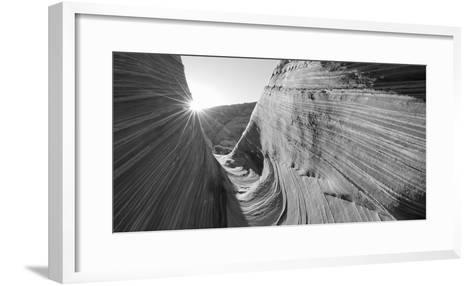 Sandstone Rock Formations, the Wave, Coyote Buttes, Utah, USA--Framed Art Print