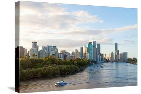 Buildings at the Waterfront, Brisbane, Queensland, Australia--Stretched Canvas Print