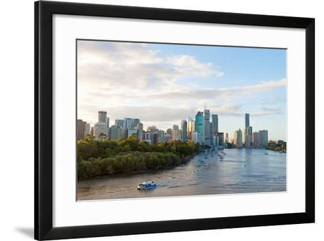 Buildings at the Waterfront, Brisbane, Queensland, Australia--Framed Art Print