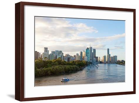 Buildings at the Waterfront, Brisbane, Queensland, Australia--Framed Art Print