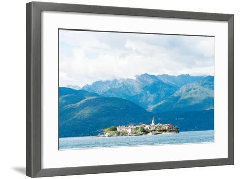 Town on an Island, Isola Dei Pescatori, Stresa, Lake Maggiore, Piedmont, Italy--Framed Art Print