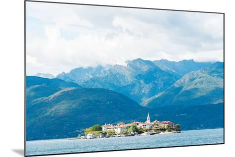 Town on an Island, Isola Dei Pescatori, Stresa, Lake Maggiore, Piedmont, Italy--Mounted Photographic Print