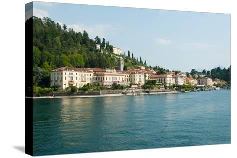 Buildings in a Town at the Waterfront, Bellagio, Lake Como, Lombardy, Italy--Stretched Canvas Print