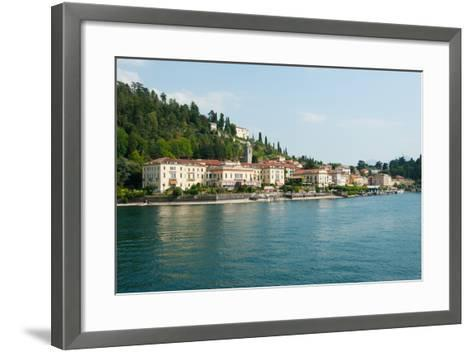 Buildings in a Town at the Waterfront, Bellagio, Lake Como, Lombardy, Italy--Framed Art Print