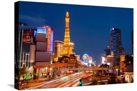 Casinos Along the Las Vegas Boulevard at Night, Las Vegas, Nevada, USA 2013--Stretched Canvas Print