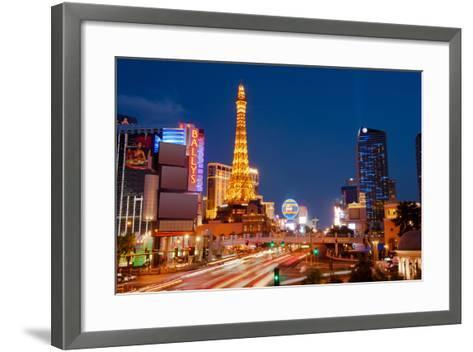 Casinos Along the Las Vegas Boulevard at Night, Las Vegas, Nevada, USA 2013--Framed Art Print