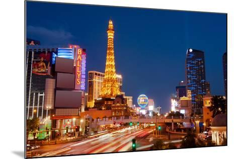 Casinos Along the Las Vegas Boulevard at Night, Las Vegas, Nevada, USA 2013--Mounted Photographic Print