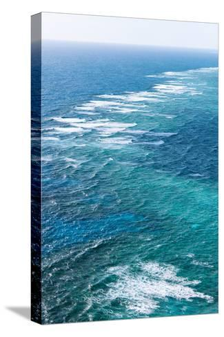 Waves Breaking on Great Barrier Reef, Queensland, Australia--Stretched Canvas Print