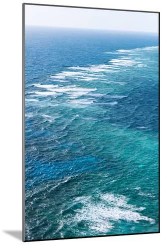 Waves Breaking on Great Barrier Reef, Queensland, Australia--Mounted Photographic Print