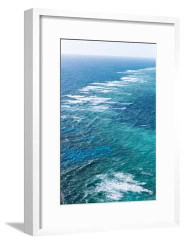 Waves Breaking on Great Barrier Reef, Queensland, Australia--Framed Art Print