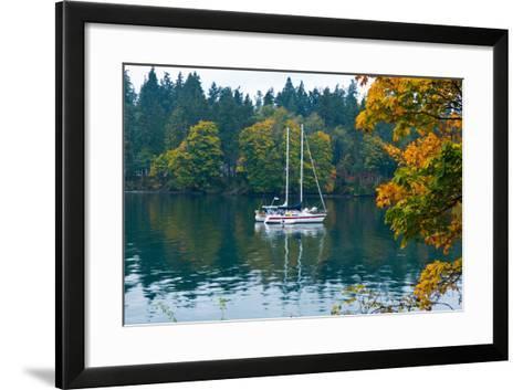 Sailboats in a Lake, Washington State, USA--Framed Art Print