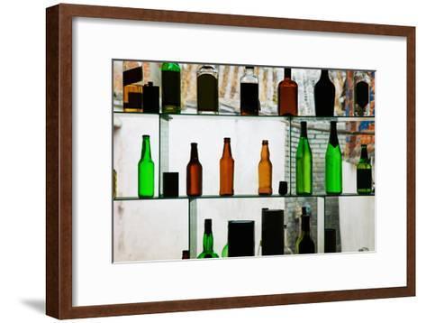 Bottles Displayed at Foreigner Bar, Old Town, Dali, Yunnan Province, China--Framed Art Print