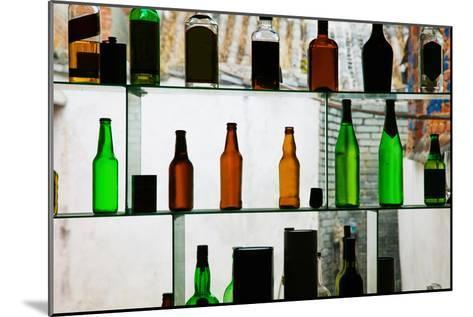 Bottles Displayed at Foreigner Bar, Old Town, Dali, Yunnan Province, China--Mounted Photographic Print