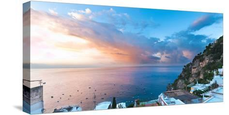 Buildings at the Waterfront, Positano, Amalfi Coast, Province of Salerno, Campania, Italy--Stretched Canvas Print