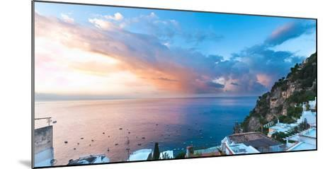 Buildings at the Waterfront, Positano, Amalfi Coast, Province of Salerno, Campania, Italy--Mounted Photographic Print