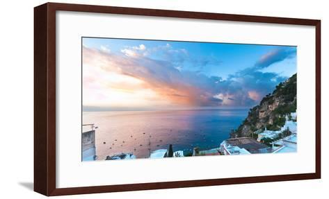 Buildings at the Waterfront, Positano, Amalfi Coast, Province of Salerno, Campania, Italy--Framed Art Print