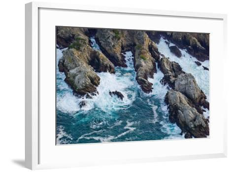 Aerial View of a Coast, Point Lobos State Reserve, Monterey County, California, USA--Framed Art Print
