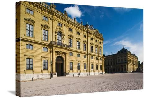 Facade of a Palace, Wurzburg Residence, Wurzburg, Lower Franconia, Bavaria, Germany--Stretched Canvas Print