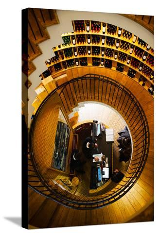 Overview of the L'Intendant Wine Shop Staircase, Bordeaux, Gironde, Aquitaine, France--Stretched Canvas Print