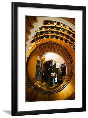 Overview of the L'Intendant Wine Shop Staircase, Bordeaux, Gironde, Aquitaine, France--Framed Art Print