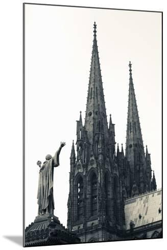 Low Angle View of a Cathedral, Cathedrale Notre-Dame-De-L'Assomption, Clermont-Ferrand--Mounted Photographic Print