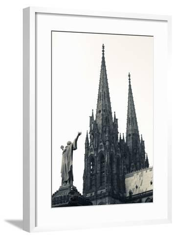 Low Angle View of a Cathedral, Cathedrale Notre-Dame-De-L'Assomption, Clermont-Ferrand--Framed Art Print