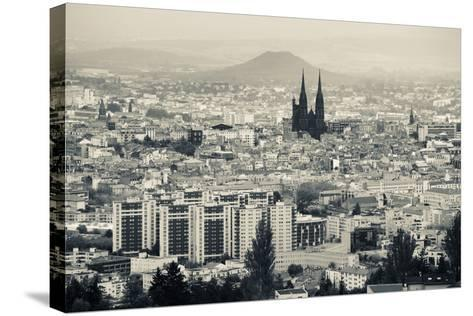 Cityscape with Cathedrale Notre-Dame-De-L'Assomption in the Background, Clermont-Ferrand--Stretched Canvas Print