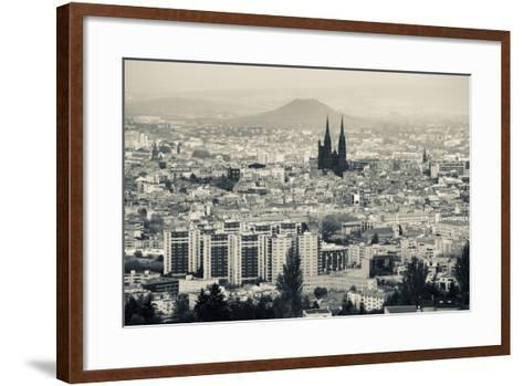 Cityscape with Cathedrale Notre-Dame-De-L'Assomption in the Background, Clermont-Ferrand--Framed Art Print