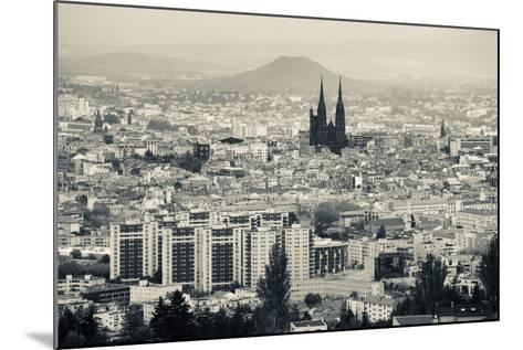 Cityscape with Cathedrale Notre-Dame-De-L'Assomption in the Background, Clermont-Ferrand--Mounted Photographic Print