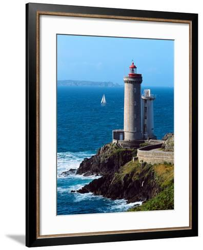 Lighthouse at the Coast, Phare Du Petit Minou, Goulet De Brest, Finistere, Brittany, France--Framed Art Print