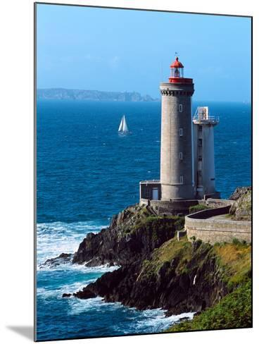 Lighthouse at the Coast, Phare Du Petit Minou, Goulet De Brest, Finistere, Brittany, France--Mounted Photographic Print