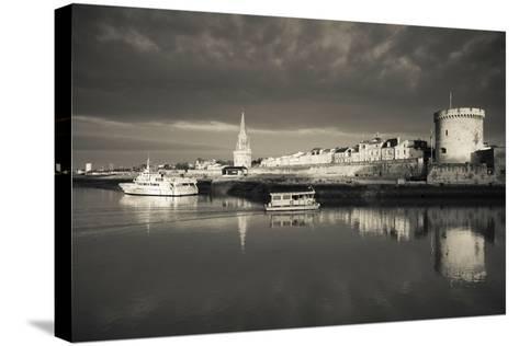 Tour De La Lanterne and Tour De La Chaine Towers, La Rochelle, Charente-Maritime--Stretched Canvas Print