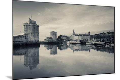 Tour St-Nicholas and Tour De La Chaine Towers at Dawn, Old Port, La Rochelle, Charente-Maritime--Mounted Photographic Print