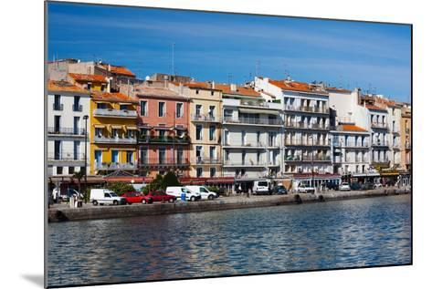 Old Port Waterfront with Buildings in the Background, Sete, Herault, Languedoc-Roussillon, France--Mounted Photographic Print