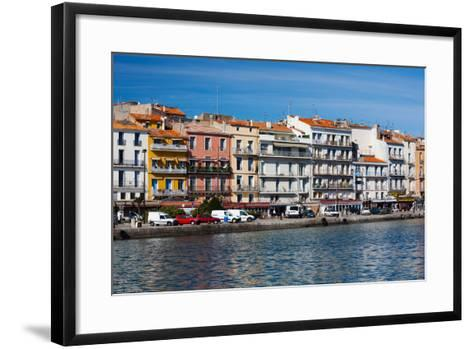 Old Port Waterfront with Buildings in the Background, Sete, Herault, Languedoc-Roussillon, France--Framed Art Print