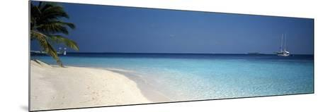 Beach and Boat Scene the Maldives--Mounted Photographic Print