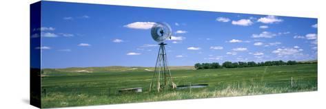 Windmill in a Field, Nebraska, USA--Stretched Canvas Print