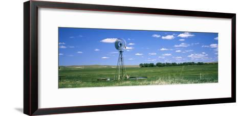 Windmill in a Field, Nebraska, USA--Framed Art Print