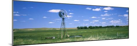 Windmill in a Field, Nebraska, USA--Mounted Photographic Print