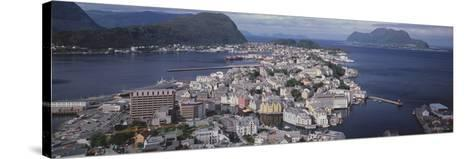 Cityscape Alesund Norway--Stretched Canvas Print