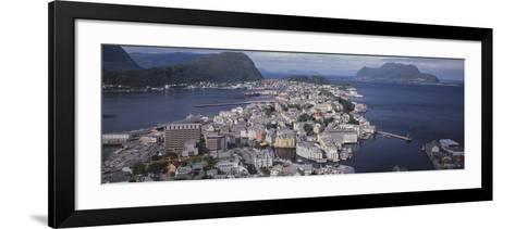 Cityscape Alesund Norway--Framed Art Print