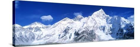 Mts Everest and Nuptse Sagamartha National Park Nepal--Stretched Canvas Print