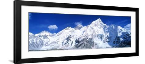 Mts Everest and Nuptse Sagamartha National Park Nepal--Framed Art Print