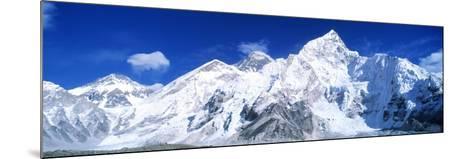 Mts Everest and Nuptse Sagamartha National Park Nepal--Mounted Photographic Print