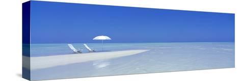 Beach Scene, Digufinolhu, Maldives--Stretched Canvas Print