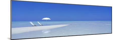 Beach Scene, Digufinolhu, Maldives--Mounted Photographic Print