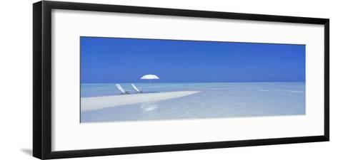 Beach Scene, Digufinolhu, Maldives--Framed Art Print