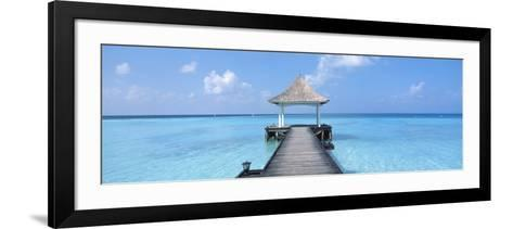 Beach and Pier the Maldives--Framed Art Print