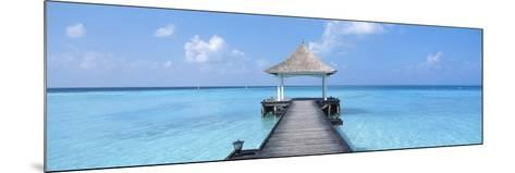 Beach and Pier the Maldives--Mounted Photographic Print