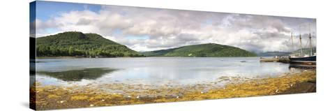 Ship at the Inveraray Maritime Museum, Inveraray, Loch Fyne, Argyll and Bute, Scotland--Stretched Canvas Print